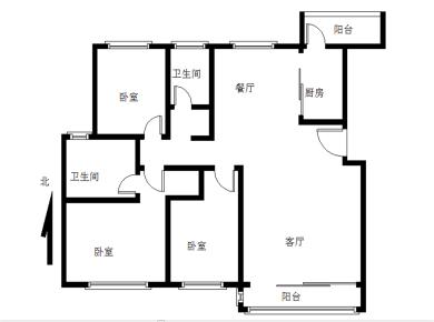花园社区 联发品质 新天地 电梯三房 南北通透 中庭 满二
