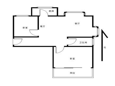 美地雅登 精装两房 位置安静 双阳台 配套齐全 汇景商圈