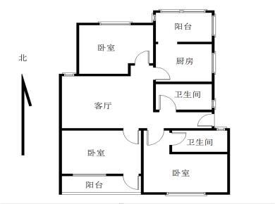 西溪花园3室2厅2卫1阳1厨