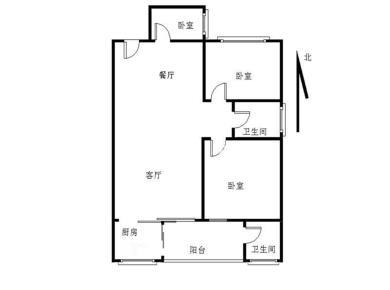 莲花五村 天伦花园 正规4房 南北通透 厅带阳台