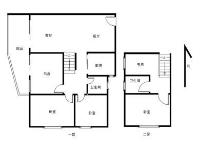 大学城电梯高楼楼中楼4房2厅2卫2阳台