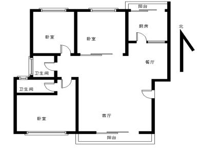 文轩花园环境优美,三房二厅二卫享品质生活。