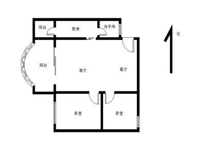 金楓園 中間樓層2房 戶型方正 滿5v1