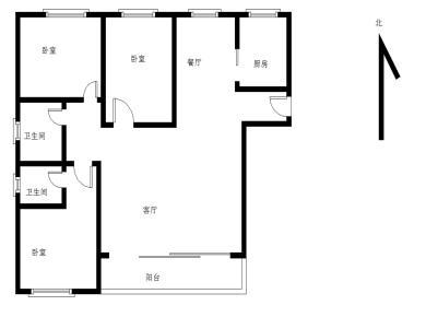 瑞景 外国语旁家盛豪园 电梯精装三房 南北通透