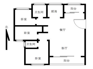万达中央华城3居电梯满五