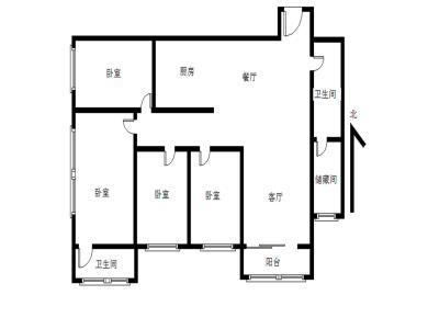新华城  精装朝南   全明四房两厅两卫  户型方正