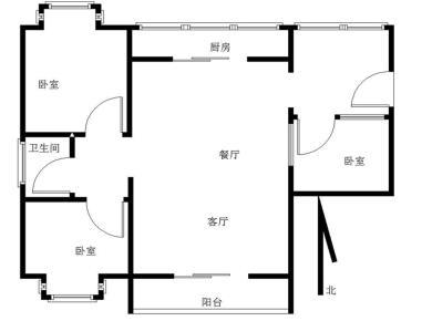 锦绣祥安三期送双入户南北通透三房可改四房户型,可读翔安一中