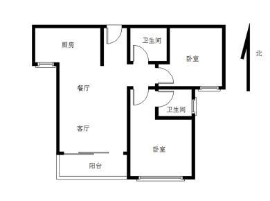 建发中央美地,高层朝南2房2卫,满五年。