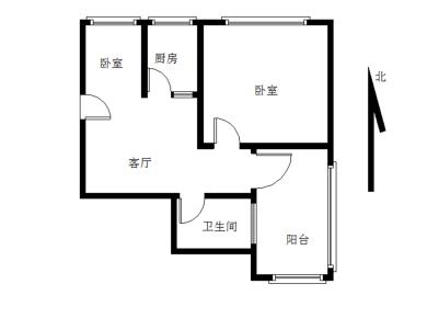 松柏一小 自住温馨小3房 总价低248万 采光好 满2年