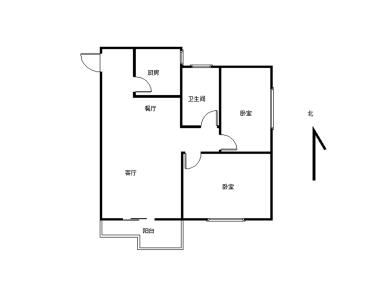 Sm片区 小区中庭 楼梯中层 东南向2房 厅带阳台朝南 满2