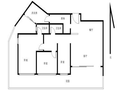 中骏海岸1号 3房2厅2卫 送65平方左右独立使用的大花园
