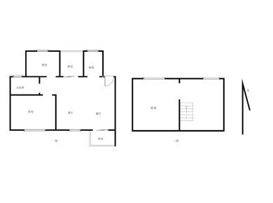 圣地亚哥《4房2厅2卫》使用面积大,楼中楼