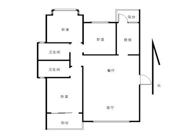 润橡树湾一二期 精装二房户型正 满二省税 寻找有缘人