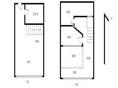 福隆国际朝南两房满五在售