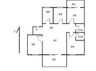 滨北,乐购旁,惠祥花园,南北通透四房,全明结构,