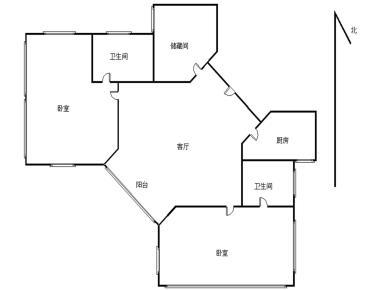鸿山大厦2居电梯满五