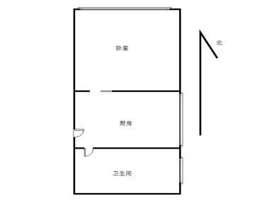 新华城 精装一房 全明户型 采光好 电梯高层
