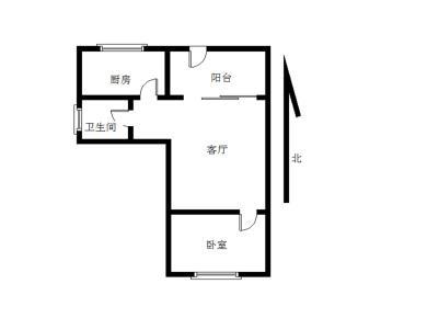 太微花园 正规1房1厅 可做店面可自住 南北全明格局