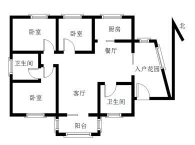蓝二期丨南北通透大三房丨送入户花园有阳台丨满两年