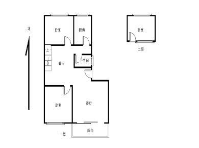 厦港新村 2001年框架结构 4.2米挑高 精装3房