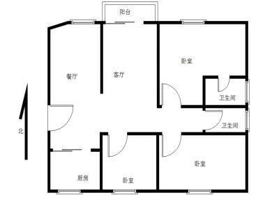 禹洲大学城 精装三房 朝南 房东自住装修