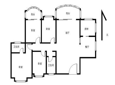 瑞景商圈 福满山庄 电梯高层 客厅、主卧带阳台朝南 正看中