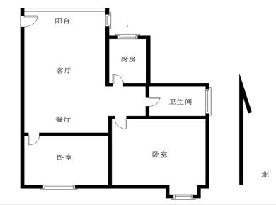 锦绣祥安,精装两房,名贵家电,产权满二,南北通透