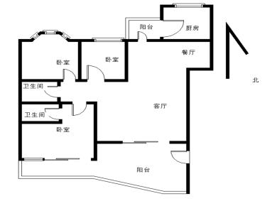 家家海景 毛坯三房 南北通透 有锁 看房随时