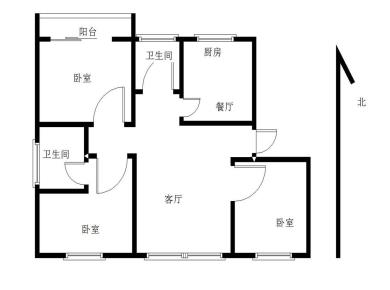 沧红路,海青花园,全明结构,彩光好,南北通透,3居室,满5年