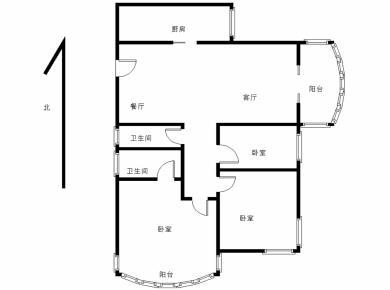 富山现代城,电梯房3房,朝南,住家装修,看房方便