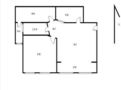 首开领翔花郡 精装小3房 满二 实验一小 拎包入住