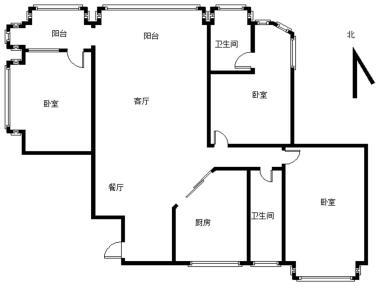 江头公园 电梯正规3房全明户型 送大阳台 使用面积大