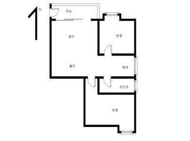 锦绣大两房 家具电全松 满五唯 一 客厅带阳台