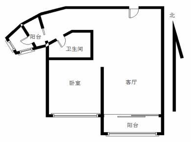2011年小区 信和上筑 精装1房 轻松改2房 高层朝南