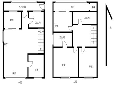 中航城C区 精装复式边套顶层 可用四层空中别墅 一线湖景