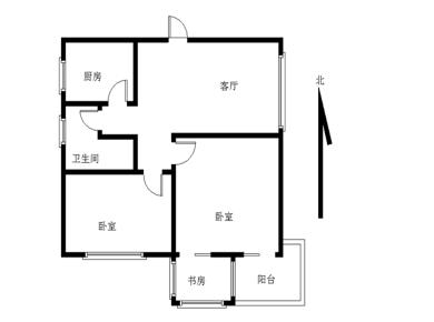 莲坂西小区 2+1房 带大阳台 小区中庭!中间楼层 空学位