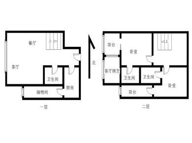 城立方,火车站与莲坂大商圈,2房2厅3卫,买一层送一层。