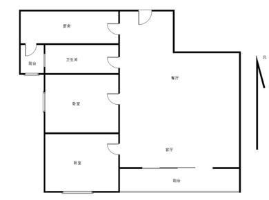 厦门院子 正规两房 二号线地铁口附近 单价两万七左右 十层