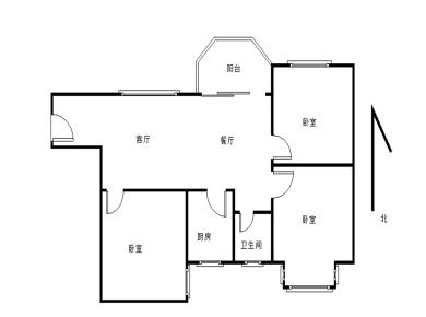 鑫锦家园正规精装三房 格局方正 南北通透 产权满二 康成小学