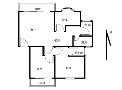 瑞景华林品质 中间楼层 南北通透 双阳台 急售