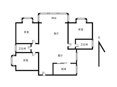 水岸名筑精装三房南北通透户型佳