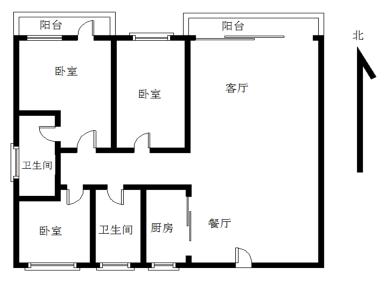 鸿梅花园二期3居电梯满五