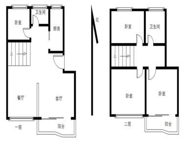 锦绣金山  南北通透 楼中楼四房 使用面积大