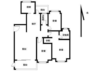 三房 南北通透 2500元/平装修标准