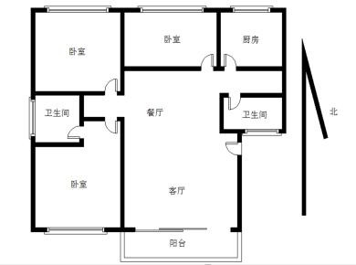 金山小区,正规3房,拎包入住