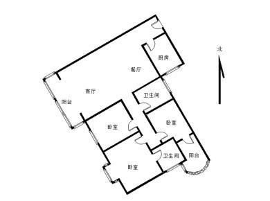 百年大同小学!华侨海景城 电梯精装大3房 西南向 全明户型