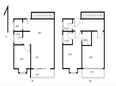 湾区二期 前排看湾景 复式3房2厅3卫1厨房2阳台 朝南