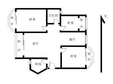 未來海岸浪琴灣,正3房2廳1衛1廚4陽臺 可看海