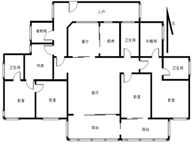 水晶森林 高层 精装4房 朝南 全明户型 省税费