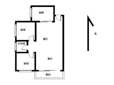 嘉盛豪园 居家两房 看中庭 边套户型 07年小区 满两年